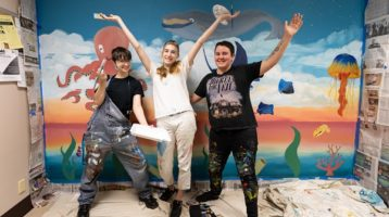 Mural Medicine: CV students volunteer their creativity to make pediatrician's exam room more welcoming