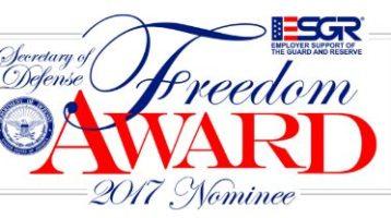 Clinic among employers nominated for 2017 Freedom Award